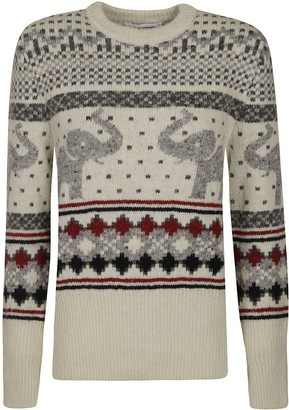 Thom Browne Seasonal Icon Elephant Fair Isle Classic Pullover