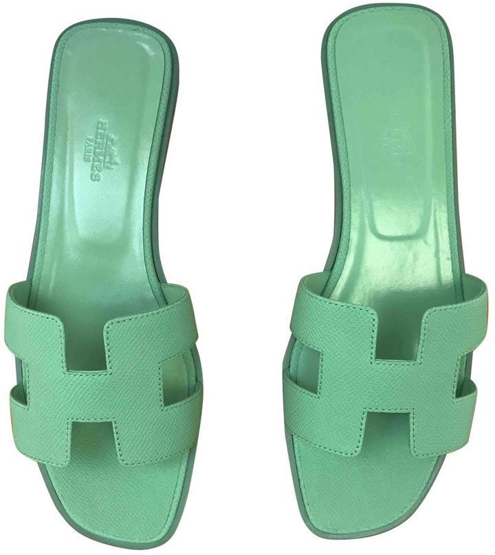 Hermes Oran leather sandal