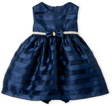 princess faith (Infant Girls) Two-Piece Stripe Organza Dress & Bloomers Set