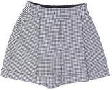 Michael Kors Plaid High-Rise Shorts