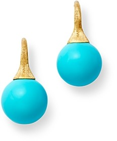 Marco Bicego 18K Yellow Gold Turquoise Drop Earrings