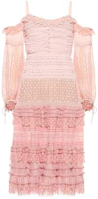Jonathan Simkhai Off-the shoulder lace midi dress
