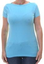 American Living Women's Boat Neck Cap Sleeve Shirt S