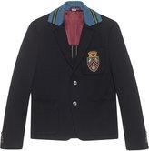 Gucci Cambridge cotton jacket with crest - men - Silk/Cotton - 46
