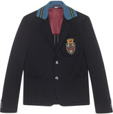 Gucci Cambridge cotton jacket with crest