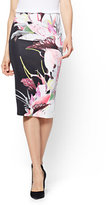 New York & Co. 7th Avenue Pull-On Pencil Skirt - Black Floral