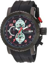 Redline Red Line Men's 'GTO' Quartz Stainless Steel and Silicone Automatic Watch, Color: (Model: RL-308C-BB-01-RA)