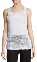 Calvin Klein Collection Chunky-Knit Scoop-Neck Tank, White