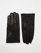 Selected Leather Gloves - Black