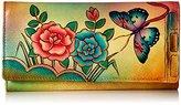 Anuschka Handpainted Leather 1701-ANR Checkbook Wallet/Clutch