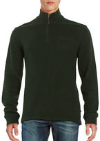 Black Brown 1826 Zip Placket Sweater