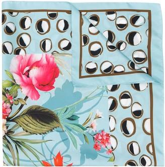 Altea Silk Botanical Print Scarf