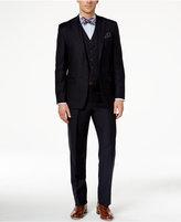 Lauren Ralph Lauren Navy Vested Solid Classic-Fit Suit