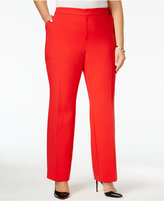 INC International Concepts Plus Size Straight-Leg Pants, Only at Macy's