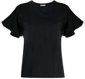 RED Valentino RED(V) ruffled short-sleeved T-shirt