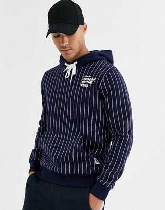 G Star G-Star pinstripe hoody-Blue