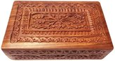 PMK Wooden Vintage Carving Box, Storage Box (8X5inch), Jewelery Box, Gift your Valentine's on Special Day