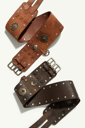 Fp Collection Gilded Double Buckle Belt