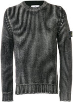Stone Island Weathered ribbed jumper