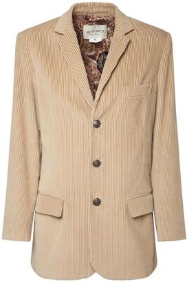 Etro Oversize Cotton Corduroy Jacket