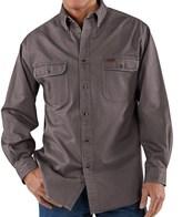 Carhartt Heavyweight Cotton Shirt - Long Sleeve (For Tall Men)