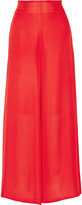 Rosetta Getty Silk-chiffon wide-leg pants