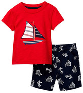 Little Me Saiboat Tee & Short Set (Baby Boys)