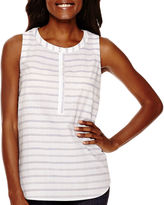 Liz Claiborne Stripe Tank Top - Tall