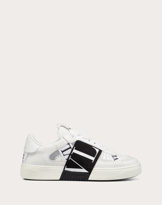 Valentino Vl7n Sneaker In Banded Calfskin Leather Women White/ice 100% Pelle Di Vitello - Bos Taurus 35