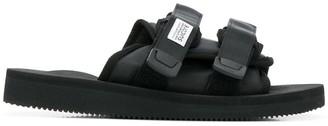 Suicoke Black Double Strap Sliders