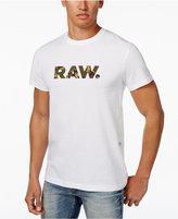 G Star RAW Men's Camouflage Logo Cotton T-Shirt