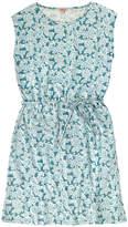 Cath Kidston Woodblock Floral Tie Waist Detail Dress