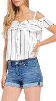 Lush White Stripe Top