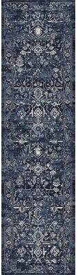 "Charlton Homeâ® Cadmus Oriental Dark Azure/Tan Area Rug Charlton HomeA Rug Size: 5'3"" x 7'7"""