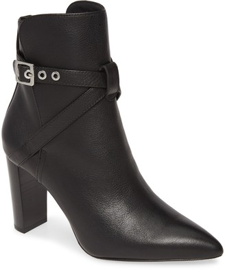 Paige Camille Pointed Toe Leather Bootie