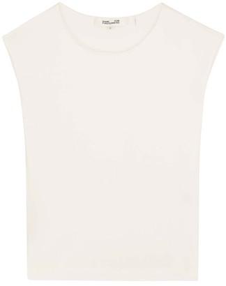 Diane von Furstenberg Jesse ivory blouse