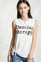 Forever 21 Dancing Therapy Tank Top