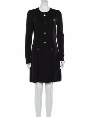 Chloé Merino Wool Mini Dress Wool