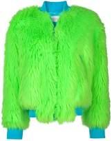 Alberta Ferretti furry bomber jacket