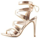 Charlotte Russe Caged Cut-Out Tie-Back Sandals