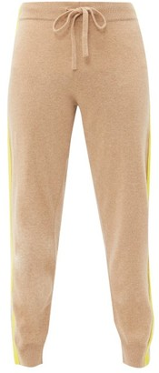 Allude Striped-trim Wool-blend Sweatpants - Womens - Beige Multi