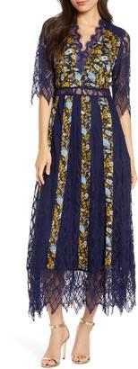 Foxiedox Josefine Lace & Clip Dot Tea Length Dress
