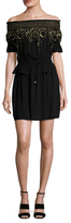 Rachel Zoe Bethany Embroidered Flared Dress