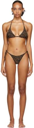 Lisa Marie Fernandez Black and Brown Zebra Pamela Bikini