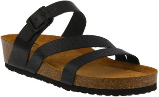 Spring Step Leather Slide Sandals - Flossie