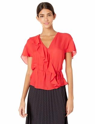 Parker Women's Weston Flutter Sleeve Wrap Top