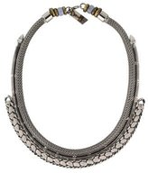 Lizzie Fortunato Blue Lace Agate Bead Accented Collar Necklace
