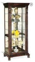 Coaster Home Furnishings Coaster Glass Shelves Curio China Cabinet, Cappuccino Wood Finish