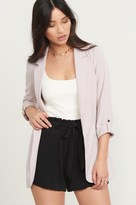 Dynamite Soft Curved Hem Blazer With Rolled Sleeves