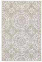 "Amaris Floral Gray/Ivory Indoor/Outdoor Area Rug Red Barrel Studio Rug Size: Rectangle 7'10"" x 10'"